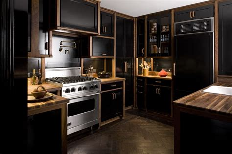 pics of kitchens with black cabinets farmer interiors the black kitchen