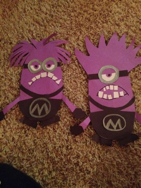 purple crafts for purple minion craft construction paper things i