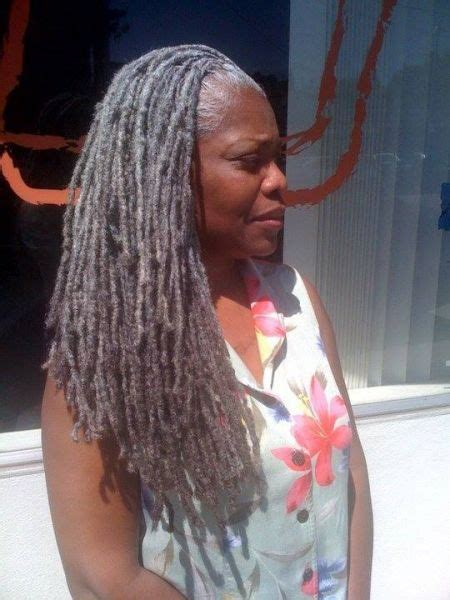 silver dreadlock graceful grey locs black hair information community