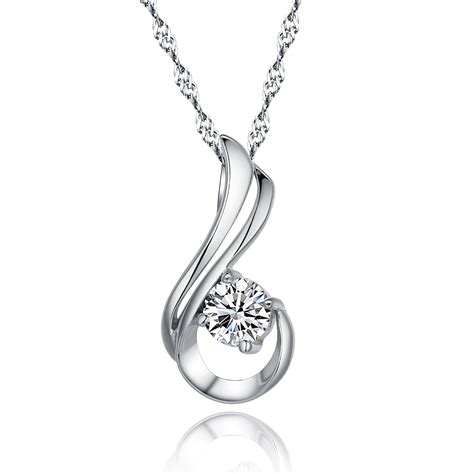 jewelry pendants genuine 100 925 sterling silver pendant necklace paved