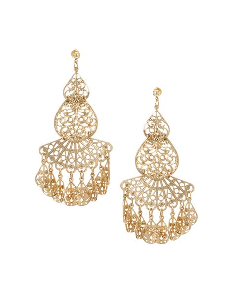 filigree for jewelry asos filigree earrings in gold lyst