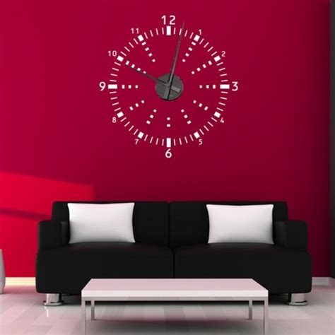 sticker wall clock digital wall sticker clock wall clock