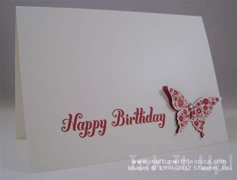 happy birthday cards to make butterfly birthday card ink it up with