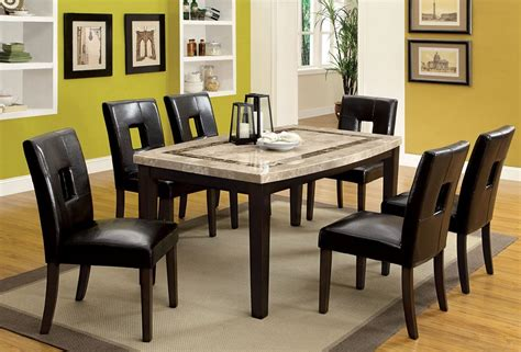 dining room table with marble top lisbon marble top dining table set
