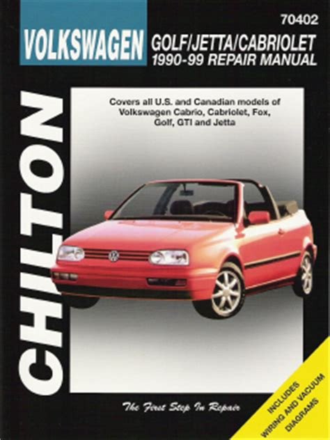 car repair manuals download 1998 volkswagen golf head up display 1990 1998 volkswagen golf jetta cabriolet chilton s total car care manual