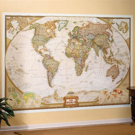 World Wall Map Mural world executive wall map mural national geographic store