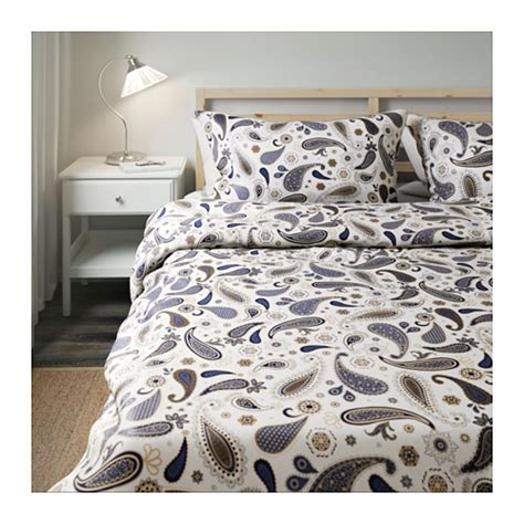 s 214 tblomster quilt cover and 4 pillowcases white blue 240x220 50x80 cm ikea