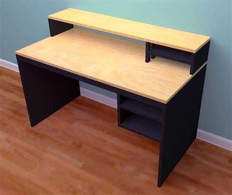computer desk woodworking plans woodwork desk plans from plywood pdf plans