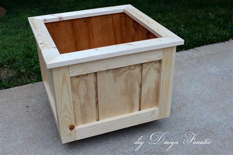 wooden planter box diy design fanatic how to make a wood planter box
