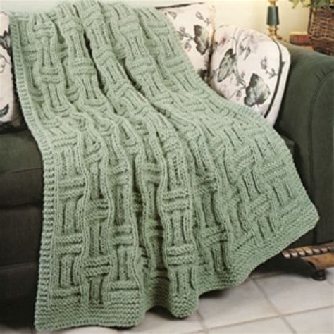 basketweave knit afghan pattern knit basketweave afghan knit epattern leisurearts