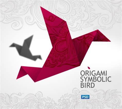 origami crane template origami cranes psd layered material millions