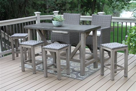 Patio Bar Table And Chairs Ht25 Patio Bar Table And