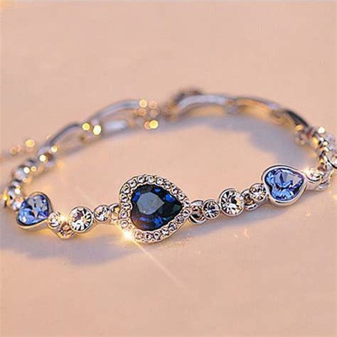 jewelry bracelets stylish new fashion blue sliver plated