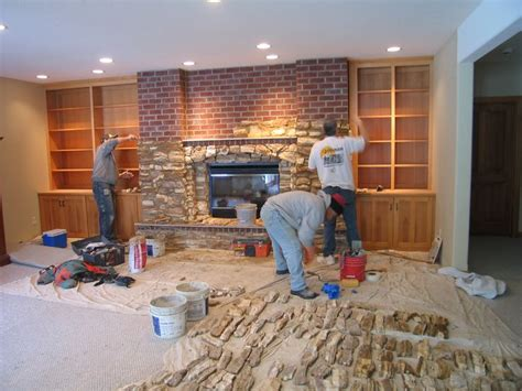 covering up a fireplace re cover a brick fireplace with house design