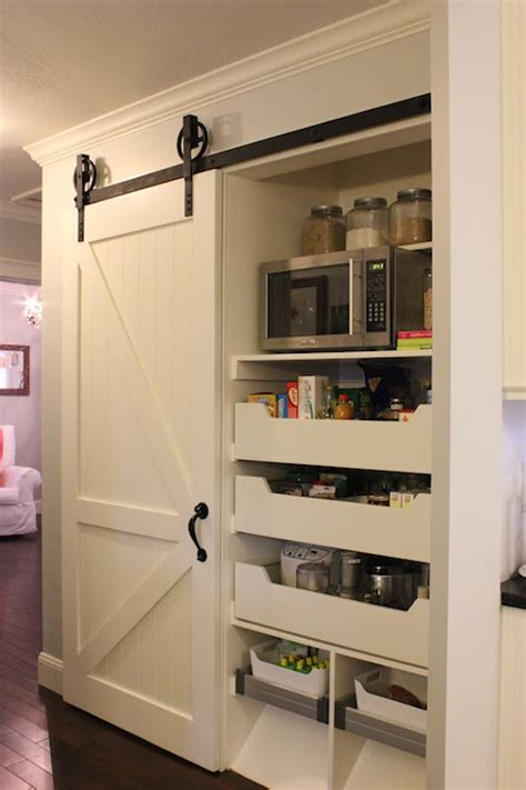 barn door for pantry kitchen pantry with sliding barn door traditional