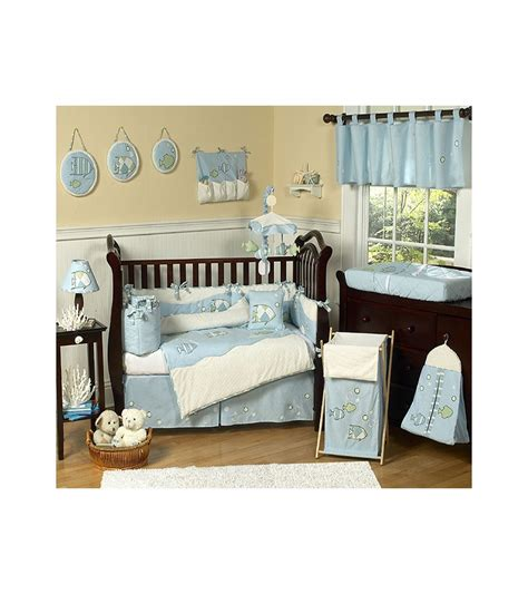 fish crib bedding sweet jojo designs go fish 9 crib bedding set