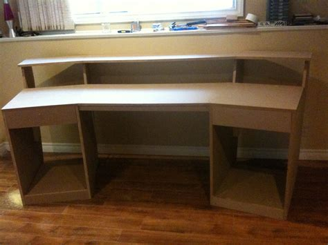how to build studio desk woodwork diy studio desk plans pdf plans
