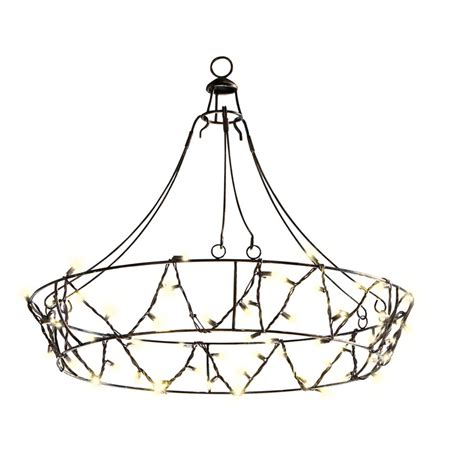 outdoor chandelier lowes shop gemmy 10 5 ft black indoor outdoor in chandelier