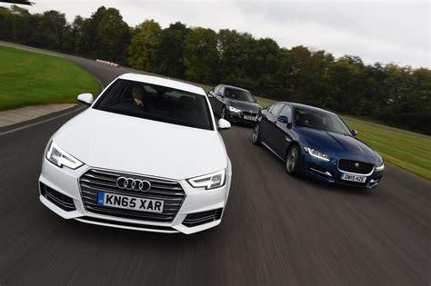 Bmw 3 Series Vs Audi A4 by Audi A4 Vs Jaguar Xe Bmw 3 Series Pictures Auto Express