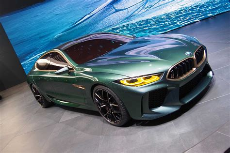 M8 Gran Coupe by Bmw Concept M8 Gran Coupe A Low And Greenish Gray