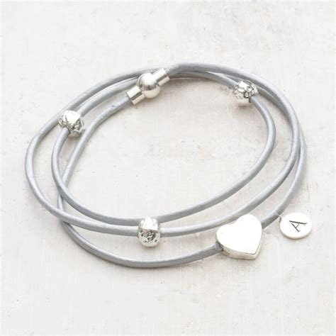 bracelet with alessia charm leather bracelet by bloom boutique