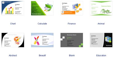 Business Card Software Free Business Card Templates