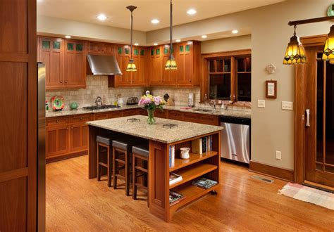 mission style kitchen island craftsman home craftsman kitchen columbus by melaragno design company llc