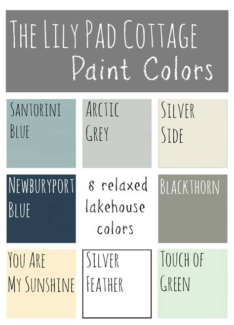 cottage color palette my paint colors 8 relaxed lake house colors the