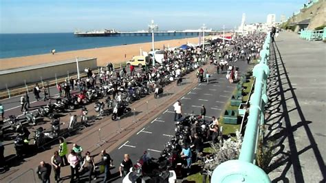 brighton and more brighton ace cafe run 2012 mods rockers