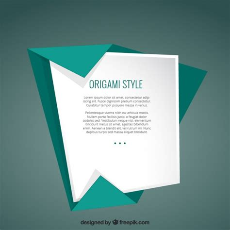 origami style template in origami style vector premium