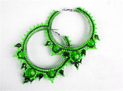 free seed bead earring patterns free pattern for earrings green tea magic