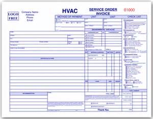 hvac invoice forms quotes