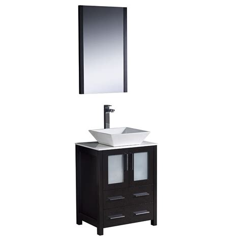24 bathroom vanity with sink fresca torino 24 inch espresso modern bathroom vanity with