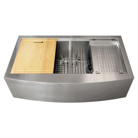 ss kitchen sink ticor tr9030 16 stainless steel apron kitchen sink