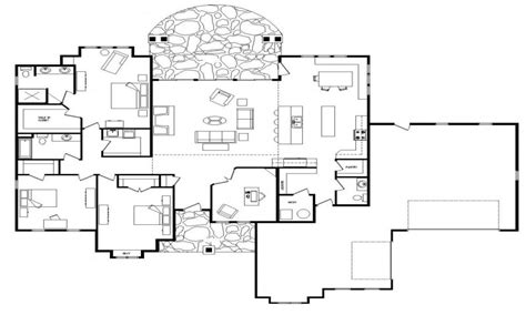 single story floor plans open floor plans one level homes single story open floor