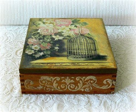 decoupage jewelry box ideas 17 best ideas about decoupage box on shabby