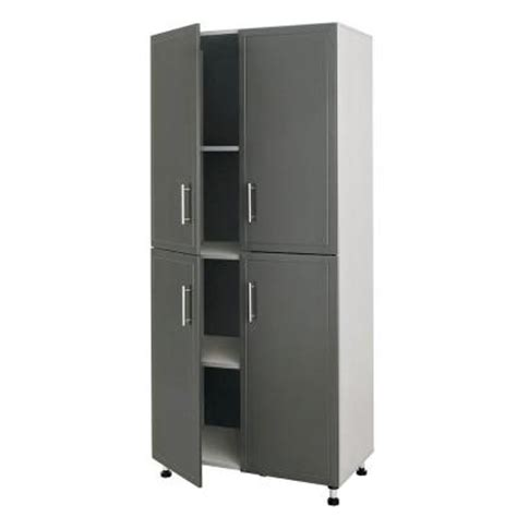 home depot storage cabinets with doors closetmaid progarage 4 door laminated storage cabinet in