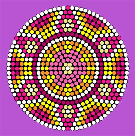easy bead patterns colorful flower wheel