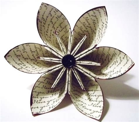 origami flowers book i you paper flower wedding bouquet gift cake