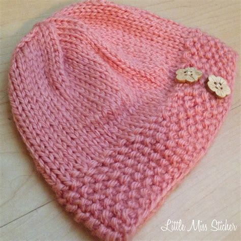 baby hats to knit miss stitcher bitty beanie free knit pattern
