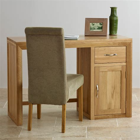 solid oak computer desk bevel solid oak computer desk by oak furniture land