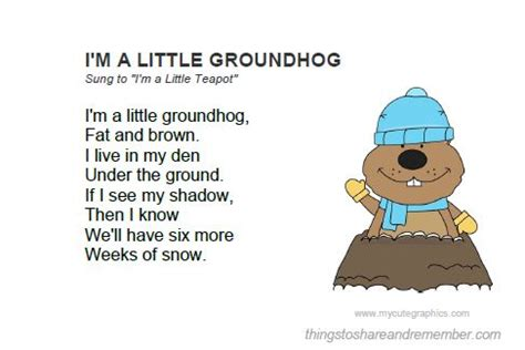 groundhog day update groundhog day activities printable song card