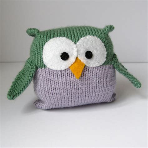 free knitted toys tooley owl knitting pattern easy to knit for
