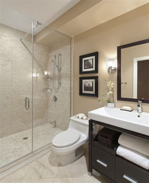 Master Bath Shower Only Bathroom Contemporary With Gray