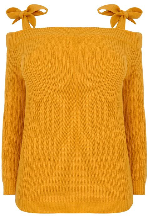 mustard knitted tie limited collection mustard yellow bardot knitted jumper