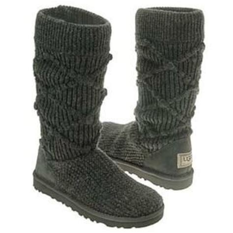 gray knitted uggs 53 ugg shoes gray argyle knit uggs from s