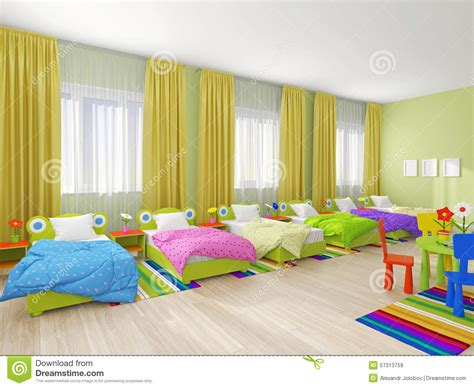 Curtains For Small Bedroom Windows bedroom interior in kindergarten