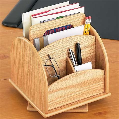spinning desk organizer rotating desk or remote organizer oak wood in desktop organizers