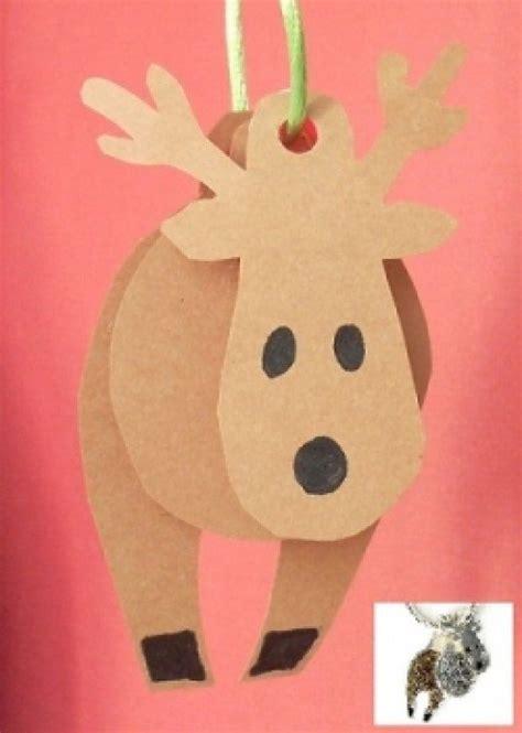 reindeer paper craft paper crafts feltmagnet