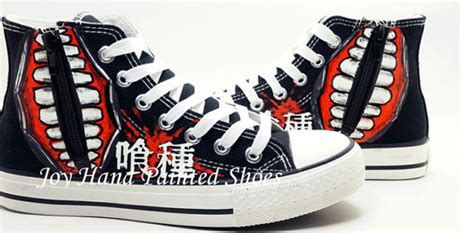 glow in the paint for shoes tokyo ghoul anime shoes glow in the painted by
